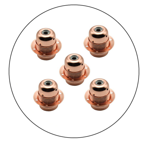 5 Pack Vintage Industrial Copper Lamp Light Antique Retro Edison E27 Bulb Holder - Shop for LED lights - Transformers - Lampshades - Holders | LEDSone UK