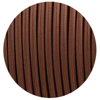 3 core Round Vintage Braided Fabric Brown Cable Flex 0.75mm - Shop for LED lights - Transformers - Lampshades - Holders | LEDSone UK