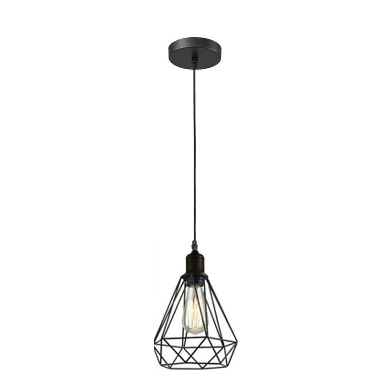 Vintage Industrial Retro Suspended 3 Head Ceiling Pendant Light Lampshade Light