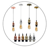 New E27 Ceiling Rose Light Fitting Vintage Industrial Pendant Lamp Bulb Holder