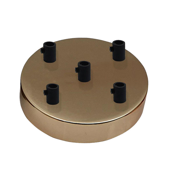 5 Outlet French Gold Metal Ceiling Rose 120x25mm - Shop for LED lights - Transformers - Lampshades - Holders | LEDSone UK