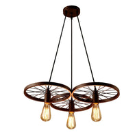 Industrial Vintage Wheel Ceiling Light Pendant Lamp Edison Lighting Fixture
