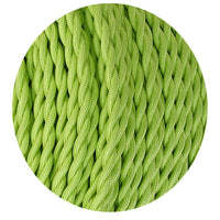 2 Core Twisted Electric Cable Light Green color fabric 0.75mm - Shop for LED lights - Transformers - Lampshades - Holders | LEDSone UK
