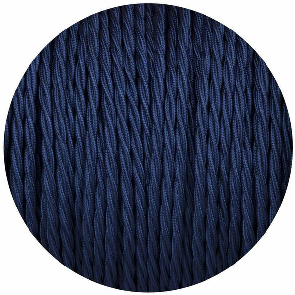 2 Core Twisted Electric Cable Dark Blue colour 5m fabric 0.75mm