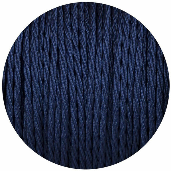 2 Core Twisted Electric Cable Dark Blue color fabric 0.75mm - Shop for LED lights - Transformers - Lampshades - Holders | LEDSone UK