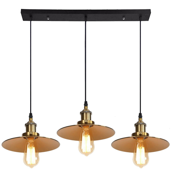 3 Way Modern Ceiling Pendant Cluster Light Fitting Industrial Pendant Lampshade