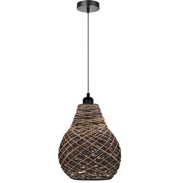 Woven Pendant lamp Adjustable Height Creative Design Hanging lamp Chandelier Pendant