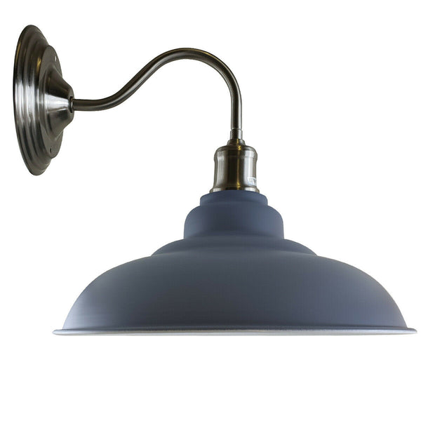 Grey colour Modern Industrial Indoor Wall Light Fitting Painted Metal Lounge Lamp