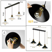 Chandelier Style Ceiling Pendant Light with FREE Bulbs Shade Industrial Loft Lampshades