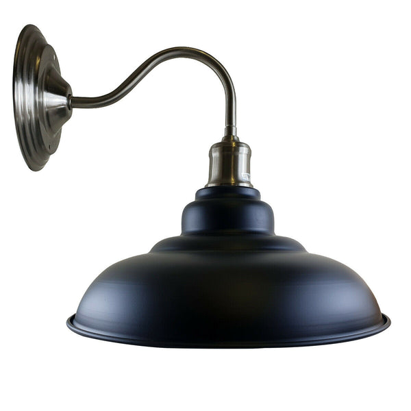 Black colour Modern Industrial Indoor Wall Light Fitting Painted Metal Lounge Lamp
