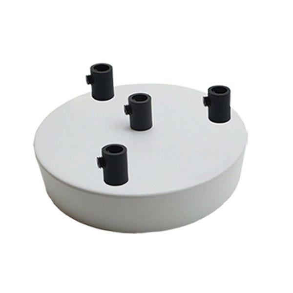 4 Outlet White Metal Ceiling Rose 120x25mm - Shop for LED lights - Transformers - Lampshades - Holders | LEDSone UK