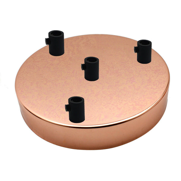 4 Outlet Rose Gold Metal Ceiling Rose 120x25mm - Shop for LED lights - Transformers - Lampshades - Holders | LEDSone UK