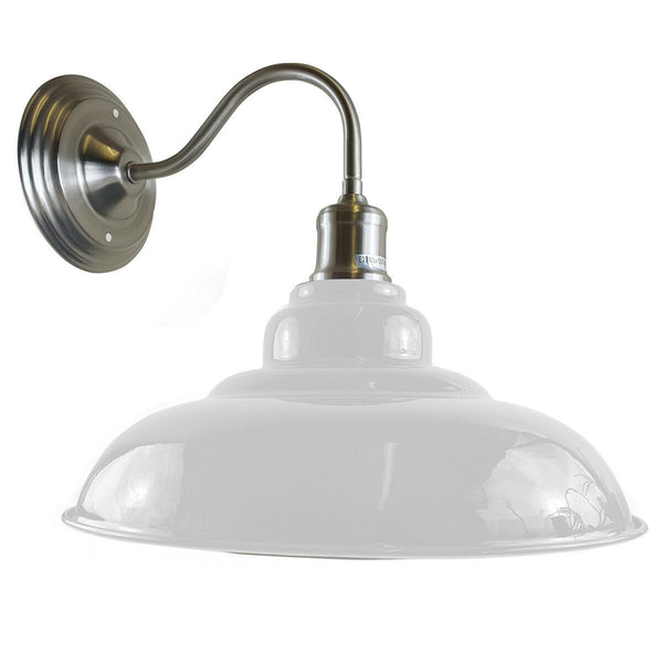 White colour Modern Industrial Indoor Wall Light Fitting Painted Metal Lounge Lamp