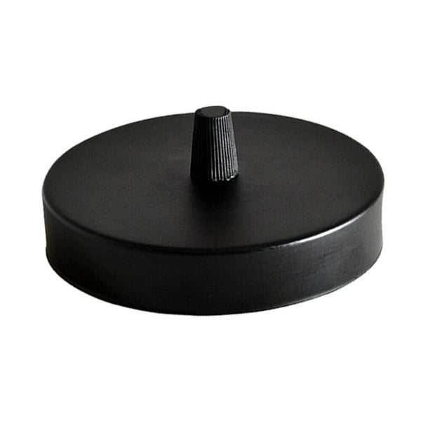 1 Outlet Black Metal Ceiling Rose 120x25mm - Shop for LED lights - Transformers - Lampshades - Holders | LEDSone UK
