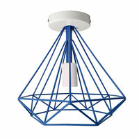 Modern Cage Ceiling Light Fitting with FREE Bulb Geometric Metal Industrial Retro Light Fitting