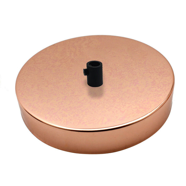1 Outlet Rose Gold Metal Ceiling Rose 120x25mm - Shop for LED lights - Transformers - Lampshades - Holders | LEDSone UK