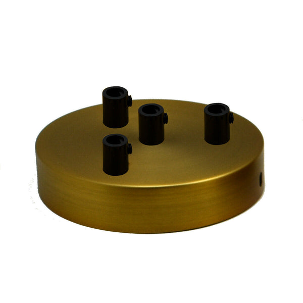 4 Outlet Yellow Brass Metal Ceiling Rose 120x25mm - Shop for LED lights - Transformers - Lampshades - Holders | LEDSone UK