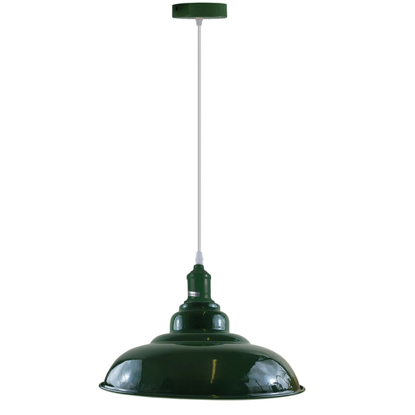 Green colour Modern Vintage Industrial Retro Loft Metal Ceiling Lamp Shade Pendant Light