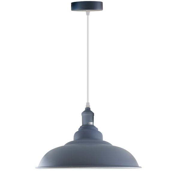 Grey colour Modern Vintage Industrial Retro Loft Metal Ceiling Lamp Shade Pendant Light