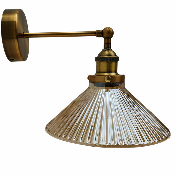 Vintage Industrial Retro Modern Style Adjustable Glass Wall Light Sconce Lamp Fitting