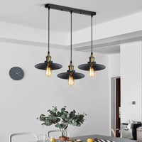 3 Way Modern Black Ceiling Pendant Cluster Light Fitting Industrial Pendant Lampshade