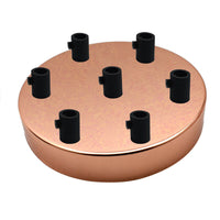 7 Outlet Rose Gold Metal Ceiling Rose 120x25mm - Shop for LED lights - Transformers - Lampshades - Holders | LEDSone UK