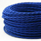 2 Core Braided Fabric Twisted and Round Cable Lighting Lamp Flex Vintage - Shop for LED lights - Transformers - Lampshades - Holders | LEDSone UK