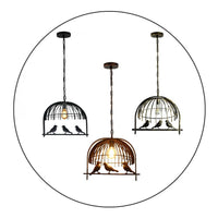 Bird Cage Ceiling Industrial Chandelier Loft Pendant Light With FREE Bulb
