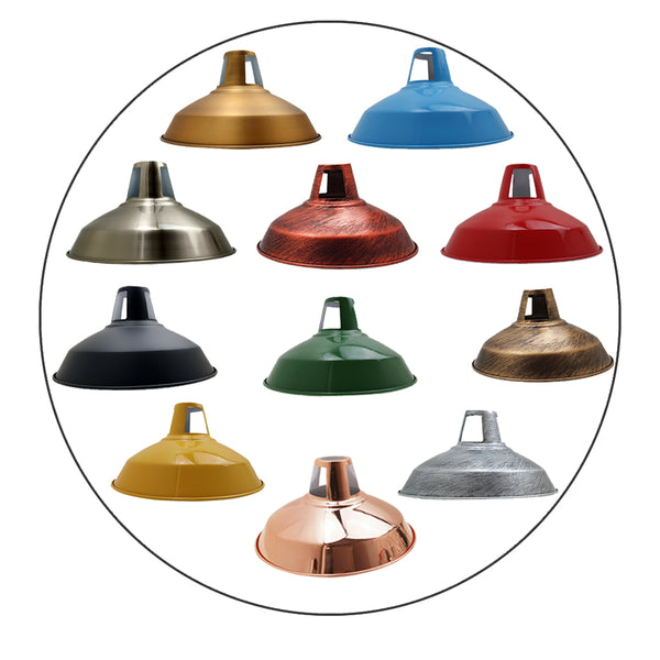Vintage Pendant Lampshade Metal Vintage Barn Light Shades Modern Ceiling Multi Colors
