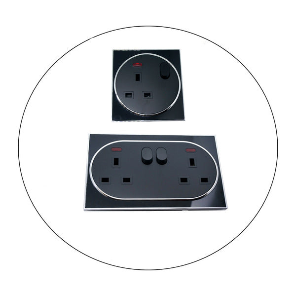 Switch Sockets Screwless Face Classic Uk