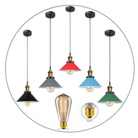 Vintage E27 Ceiling Pendant Light Lampshade Industrial Pendant Lamp Bulb Holder