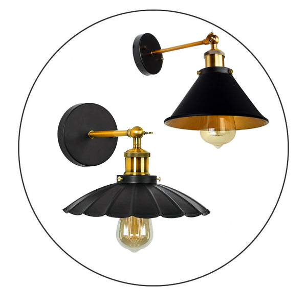 Vintage Retro Light Shade Ceiling Industrial E27 Wall Lights Sconce Lamp Fixture