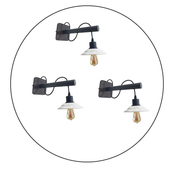 Modern Industrial Antique Brass Black Scone Wall Light Shade
