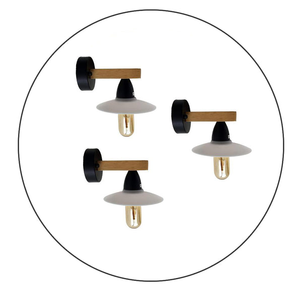 3 Pack Vintage Lamp Retro Wall Light White Lamp Fixtures - Shop for LED lights - Transformers - Lampshades - Holders | LEDSone UK