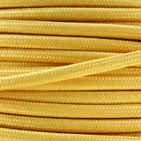 2 core Round Vintage Braided Fabric Yellow Cable Flex 0.75mm - Shop for LED lights - Transformers - Lampshades - Holders | LEDSone UK