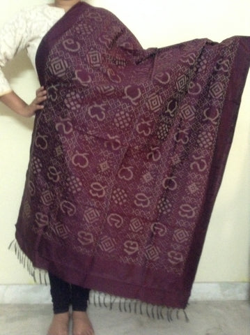 Pochampally Ikat Silk Dupatta - IP_DU_028