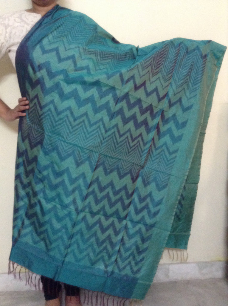 Pochampally Ikat Silk Dupatta - IP_DU_011