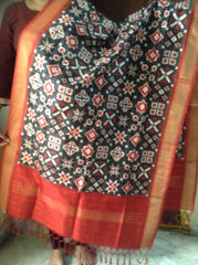 Black and Red colour Dupatta - IP_DU_024