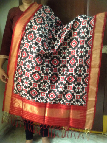 Black colour Silk Dupatta IP_DU_004