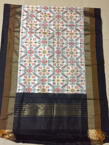 Multicolour dupatta in Silk-IP_DU_008