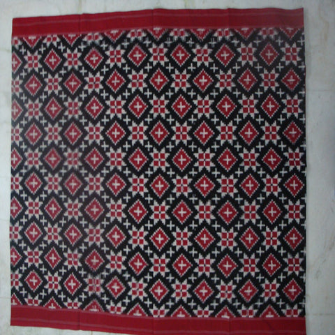 Telia Rumal Double Ikat Cotton Saree - IP_SA_008