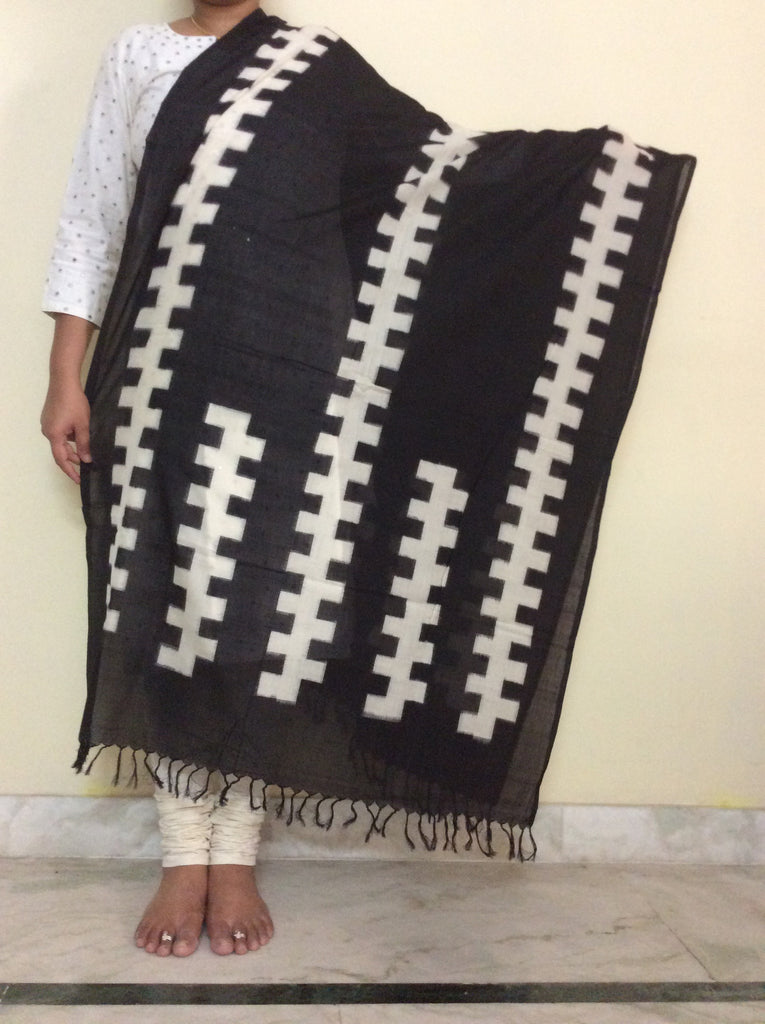 Ikkat Cotton Dupatta-IP_DU_044