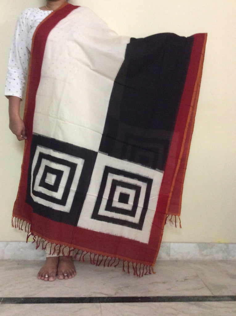Pochampally Ikkat Cotton Dupatta - IP_DU_014