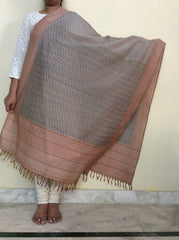 Ikkat Cotton Silk Dupatta-IP_DU_041