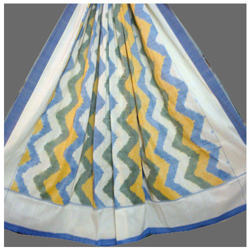 Double Cot Bed Sheet - Pochampally Ikat Mercerized Cotton - IP_BS_011