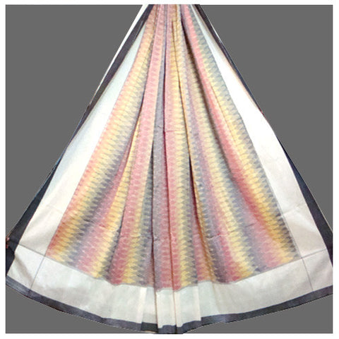 Ikat Mercerized Cotton - Double Cot  Bed Sheet - IP_BS_007