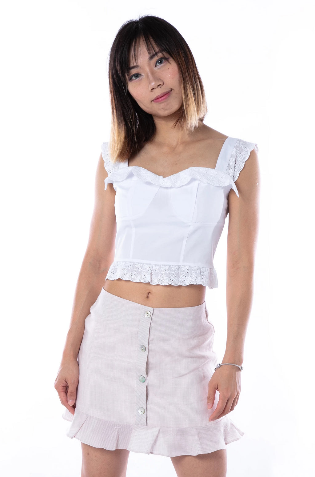 Anitta Cropped Top in White