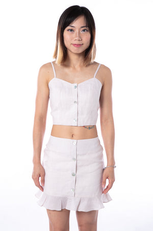 Sereia Crop Top in Sand