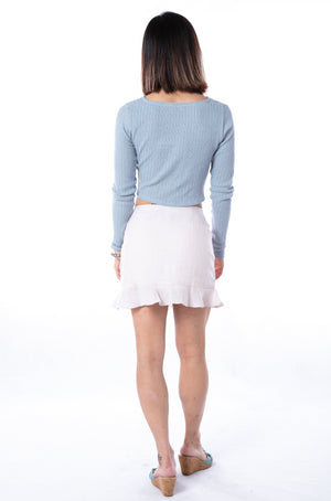 Paloma Knit Top in Blue