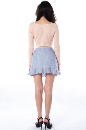 Paloma Knit Top in Peach